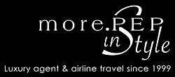 More.PEP in Style – Luxury Agent & Airline Travel